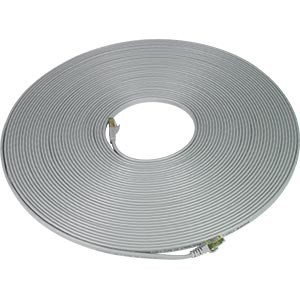 Flat CAT7 Cable or Patch Cord RJ45 Male to Male Gray 100 Feet
