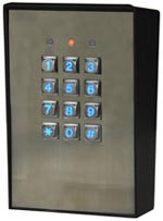 Vandal Resistant & Weatherproof Access Control Digital Keypad, Three Relay Outputs