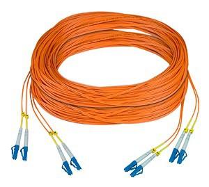 Two duplex LC 50-micron fiber cables, compatible with ST-FODVI-LC & ST-FOHDMI-LC