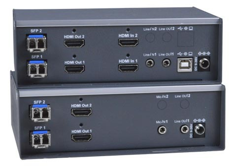 XTENDEX® ST-IPFOUSB4K-LCDH (Local & Remote Units)