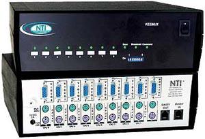 8 port PS/2 KVM Switch OSD, rackmounted