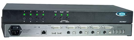 SPLITMUX-DVI-4 (Front & Back)