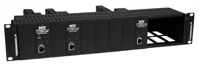 XTENDEX® ST-C6RCK-12A with ST-C6HD-LA-2L-300M Extender Modules (Front)