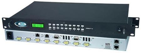 High Density VGA USB Matrix Switch Compatible with Audio Matrix Add-On Switch