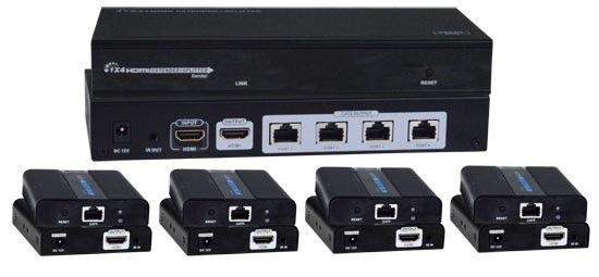 VOPEX-C64K18GB-4 Local Unit (Front & Back) and Four Included Remote Units (Front & Back)